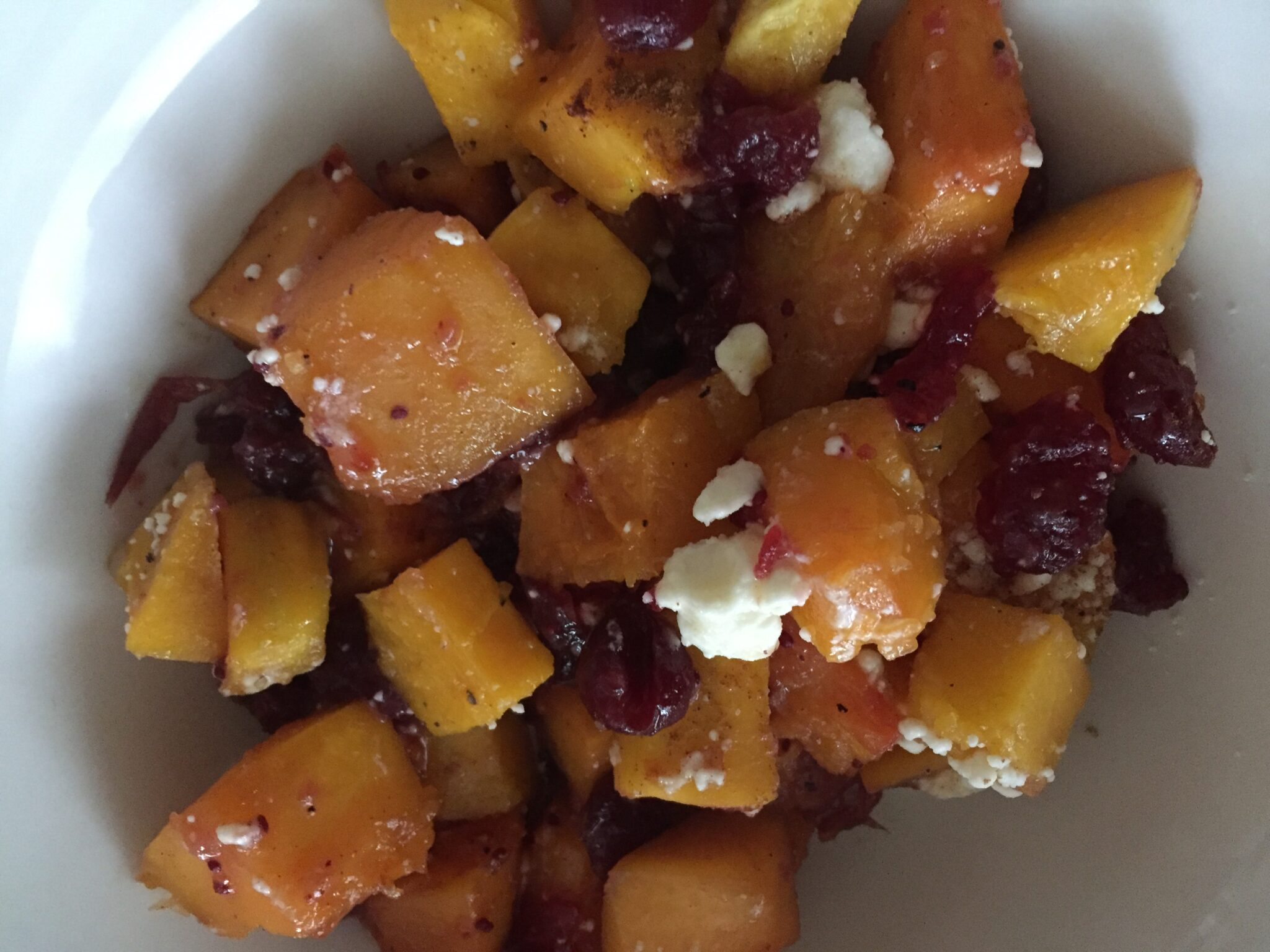Honey I Ate The Butternut Squash…… With Cranberries And Feta