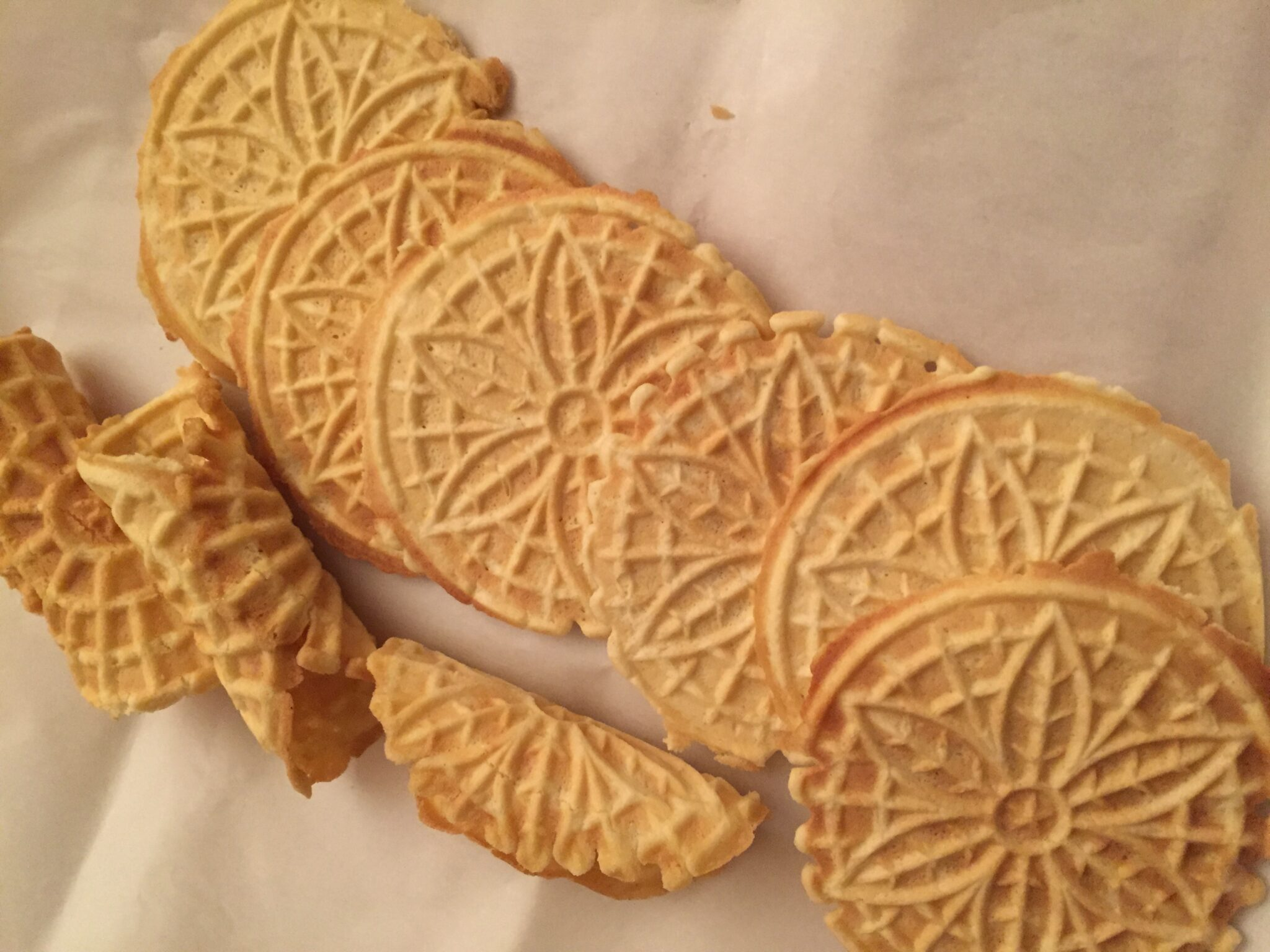 Pizzelles For Sharing At Holiday Time