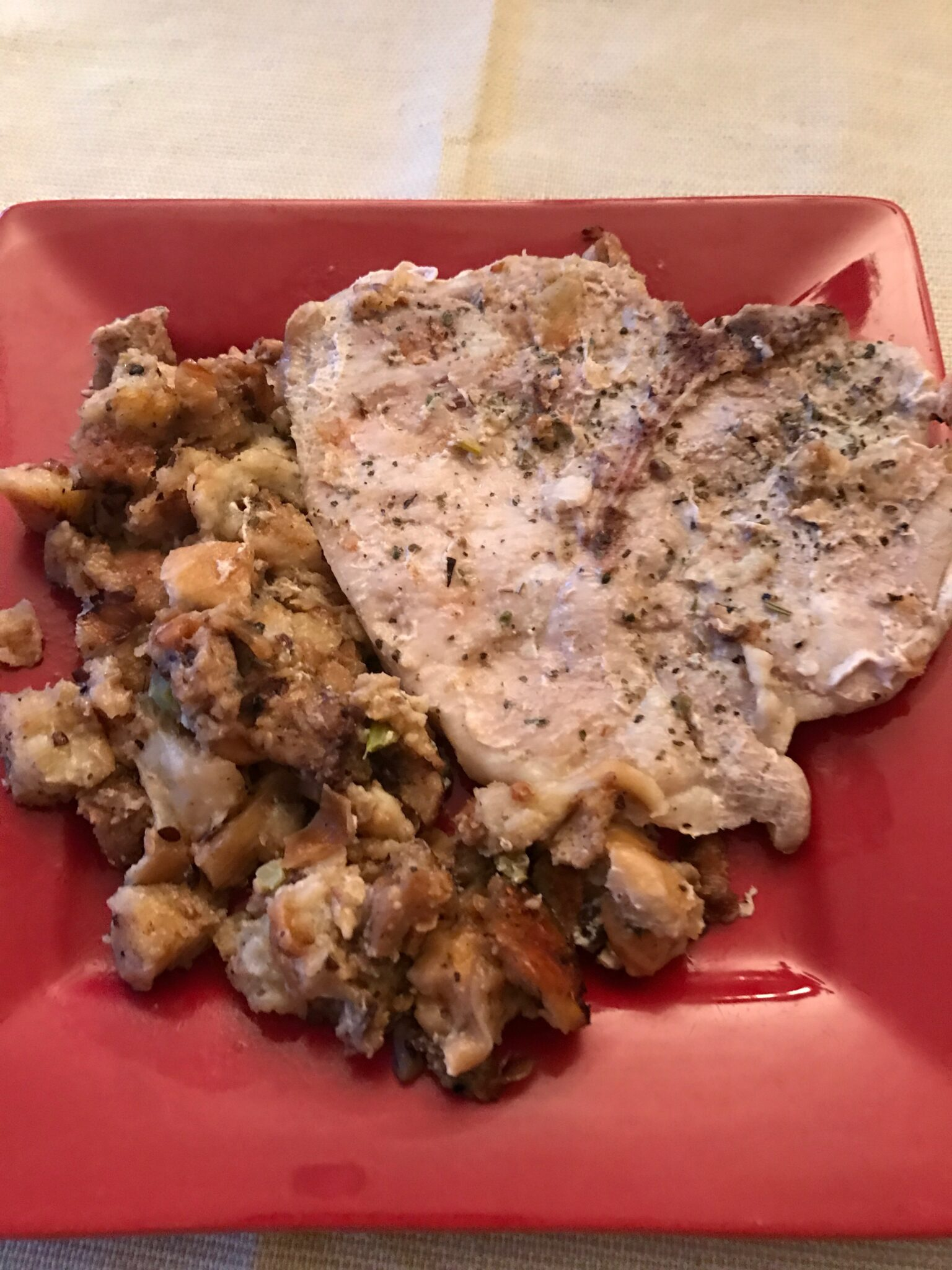 Keeping A Marriage Together With Pork Chops And Stuffing