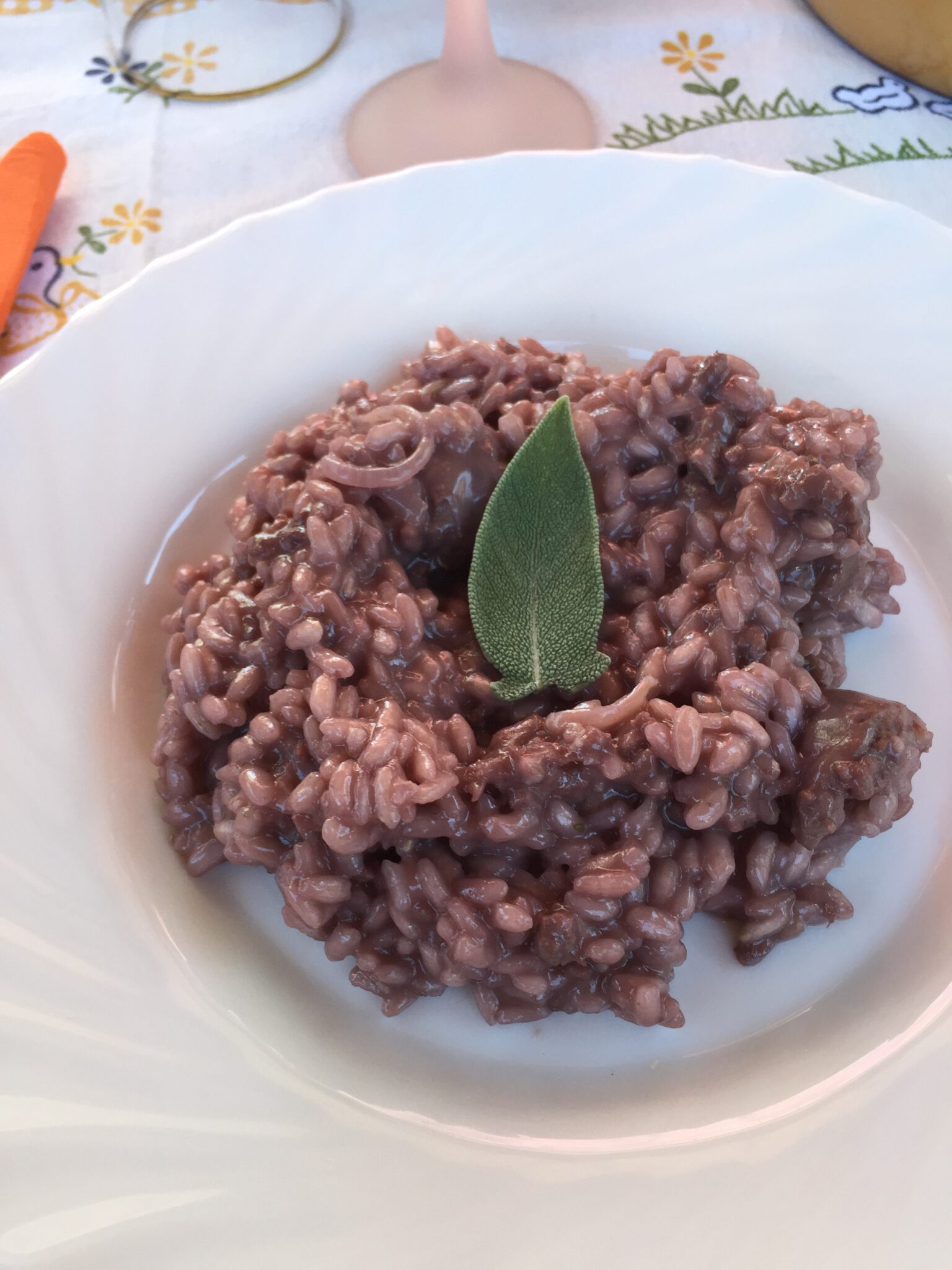 Primitivo Risotto With Sausage