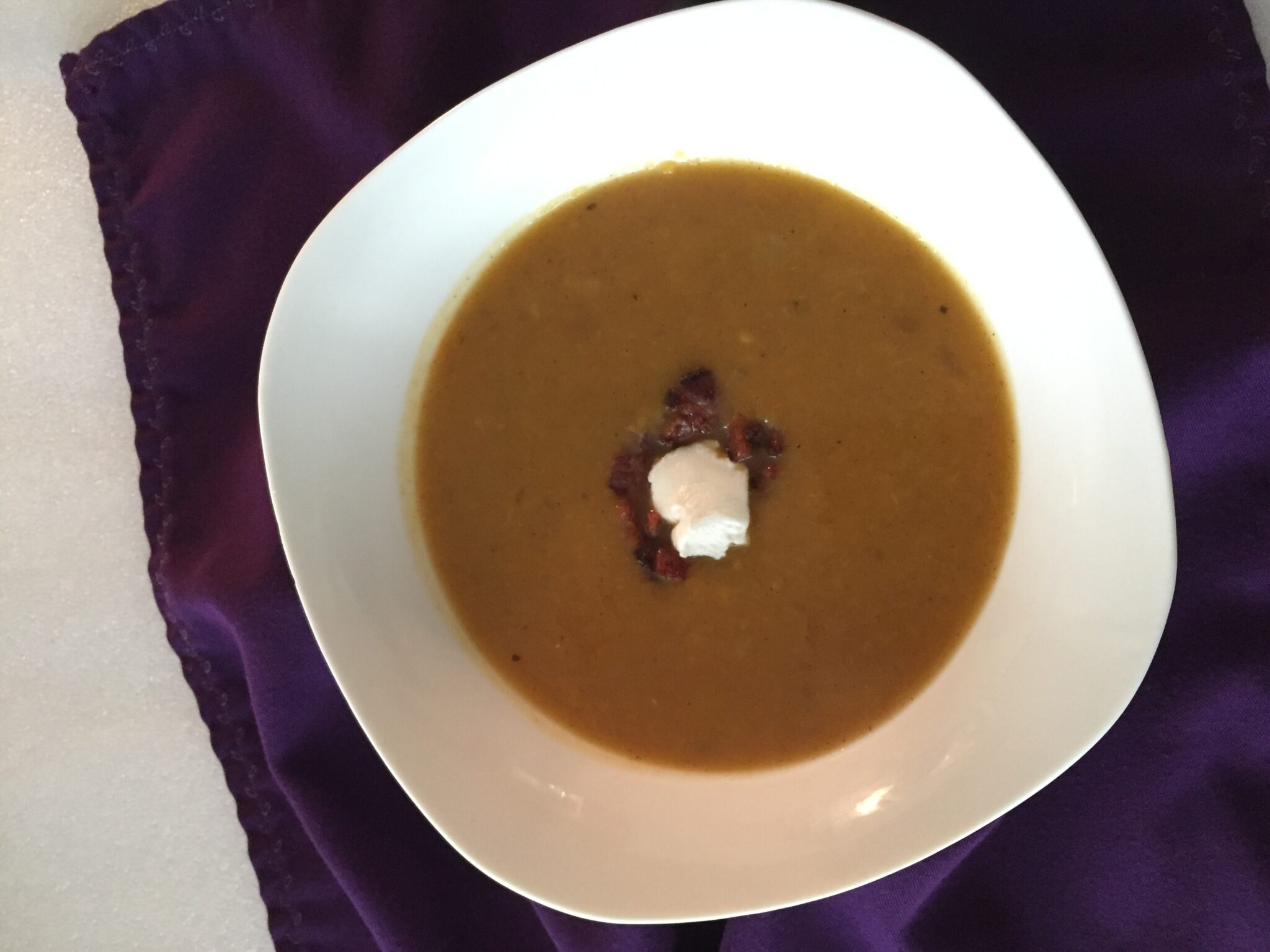 Spiced Apple and Butternut Squash Soup-er