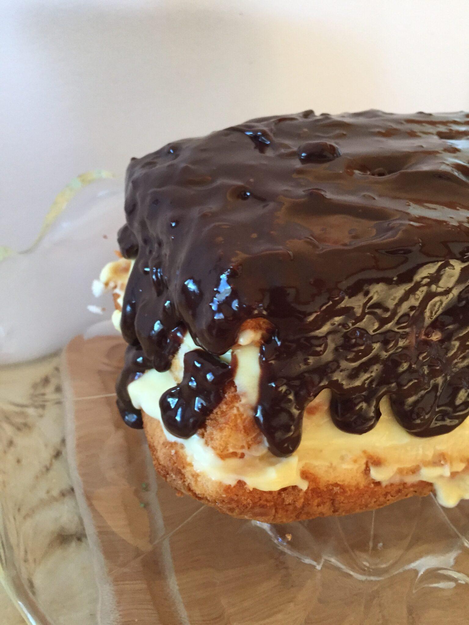 4-Ingredient Boston Cream Pie