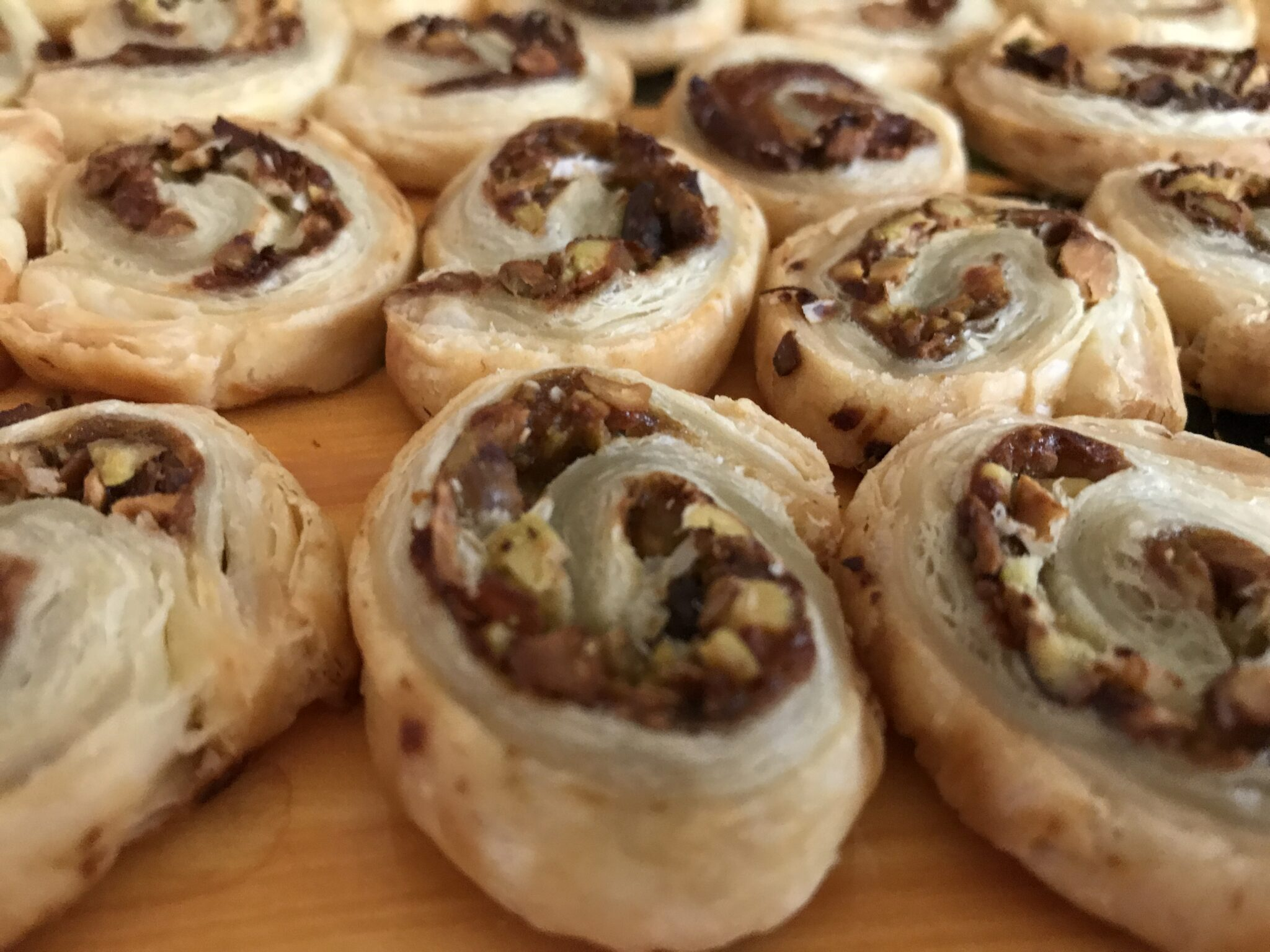 Puff The Magic Pinwheel With Pistachios. Parmesan, And Fig