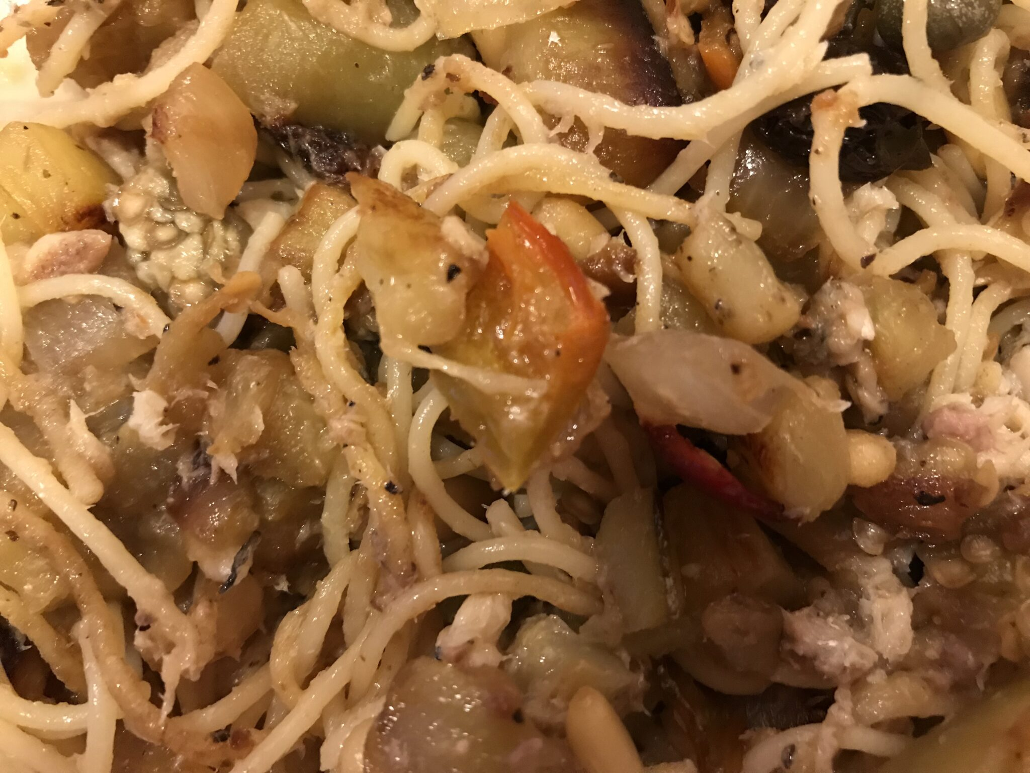 Sicilian Caponata Marries Pasta