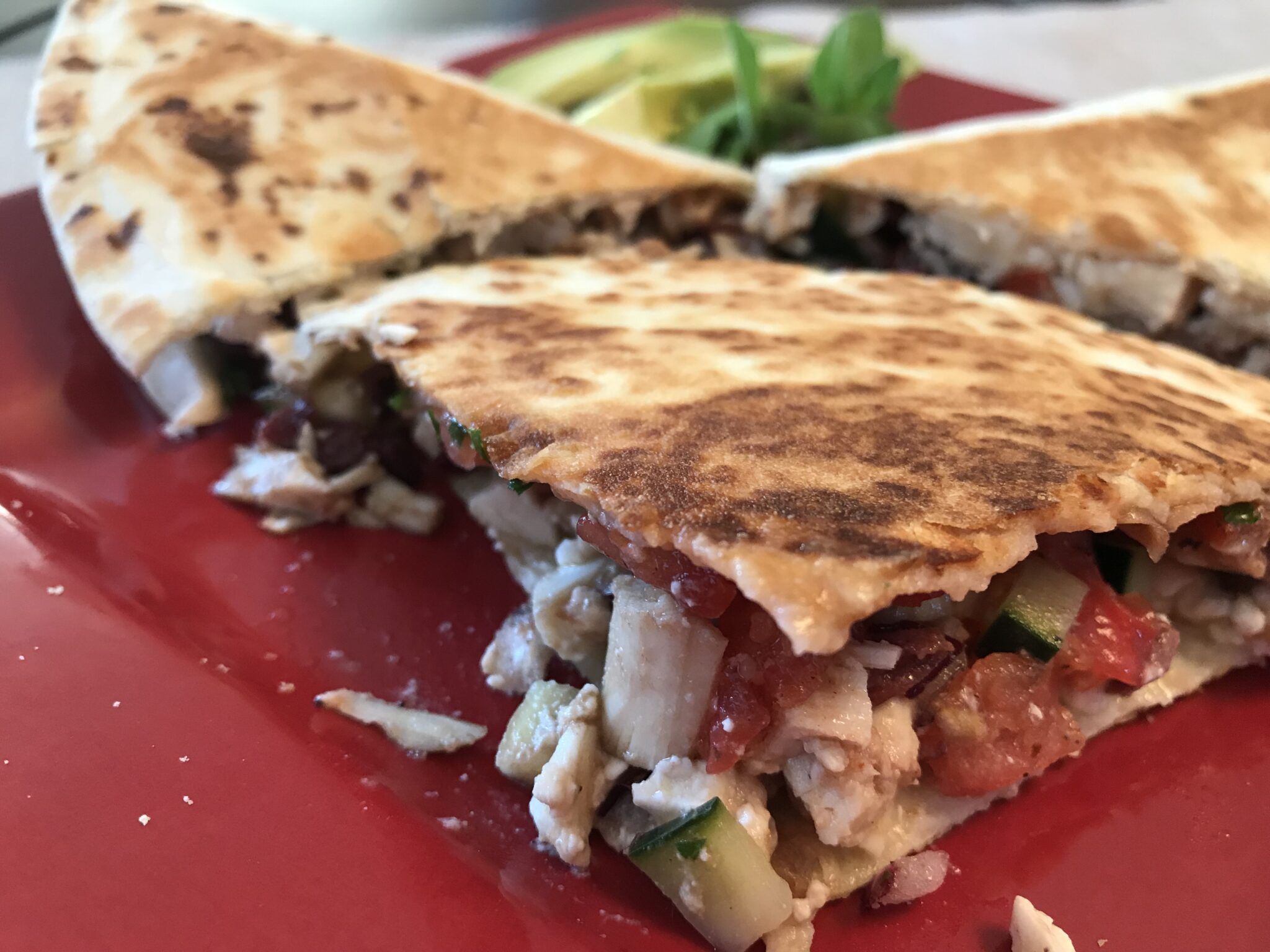 Hot or Cold – Greek Chicken Quesadillas Are Gold