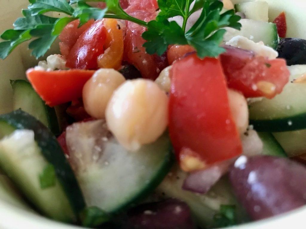 Greek Salad With Cheakpeas